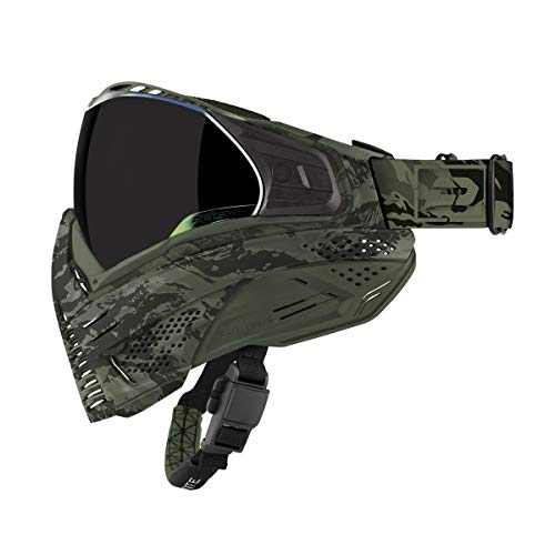 Push Unite Paintball Goggles MASK with Quad PANE Lens and CASE (Olive Camo)