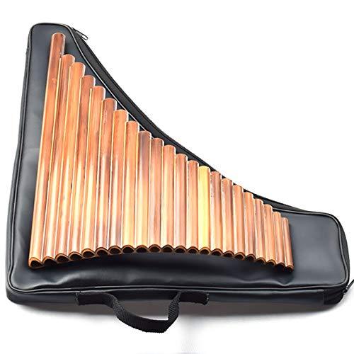 DAXINYANG Flauto di Pan di bambù in Legno di Alta qualità, 22 Pipe Suonate Professionalmente, con Borsa in Pelle,Key g