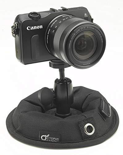 OctopusCamera | OctoPad | Universal Standfuß u. Mini Stativ für Reisen, spiegellose Kameras, 360 Action Cams, Smartphones, LED-Lichter, Blitzgeräte, Selfie-Sticks u. Mikrofone, mit 1/4 Zoll Gewinde