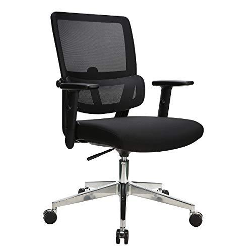Novigami Bürostuhl Orlov   360° Neigungsmechanik   Einstellbare Lendenstütze und Armlehnen   Ergonomischer Bürostuhl Drehstuhl Schreibttischstuhl Arbeitsstuhl