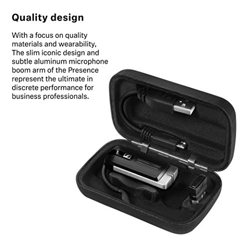 Sennheiser Presence UC ML (504575) - Dual Connectivity, Single-Sided Bluetooth Headset for Mobile Device & Softphone/PC Connection, with Carrying Case and USB Dongle (Black)
