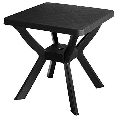 Robusto tavolo da giardino–tavolo da campeggio Tavolino 70x 70cm plastica–antracite
