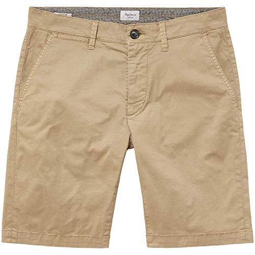 Pepe Jeans -Bermuda PM800227C75 MC Queen Short 858 Khaki Brown -PANTALÓN Corto para Hombre/Chico (32)