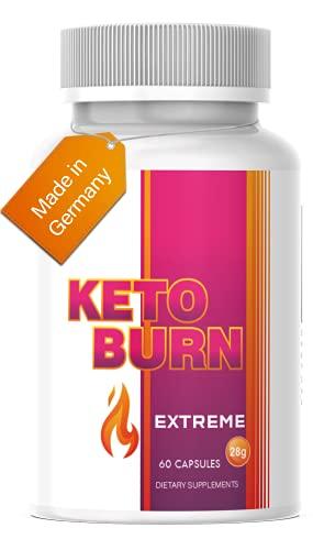 Saint Nutrition® KETO BURN - Appetitzügler & extrem schnell - 2 Kapseln für den Tag & - endlich für Frauen und Männer mit Mariendistel + Cranberry & Lemongras & Stoffwechsel Hergestellt in Deutschland