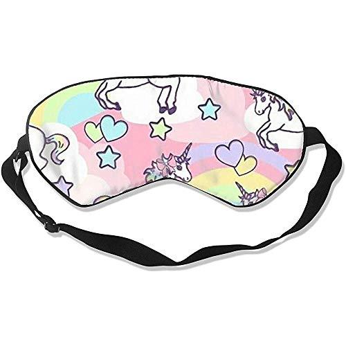 Rainbow Unicorn Slaapmasker, modieus, coole oogbinding, voor hotelvliegreizen