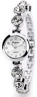 2 Colors Women Quartz Wristwatch Analog Display Alloy Strap Small Round Dial Bracelet Wristwatch