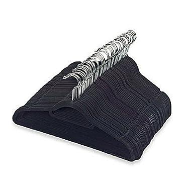 Real Simple Slimline 50-Count Flocked Suit Hangers in Black