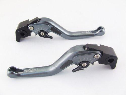 Strada 7 Racing Carbone Court Réglable Leviers Paire Gris pour BMW K1300 S/R / Gt