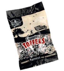 Walkers Nonsuch Regaliz toffees, 5,3oz., cinco bolsas