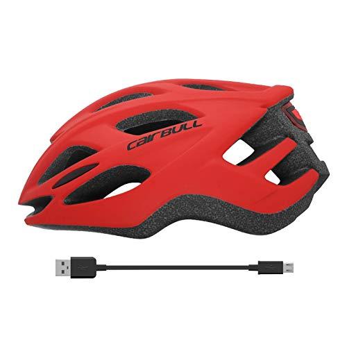 Cairbull RACEMASTER 2021 El Nuevo Casco Bicicleta, 55-61cm Casco de seguridad Protección de Seguridad Ajustable Deporte Con luz trasera de carga USB CAIRBULL-13