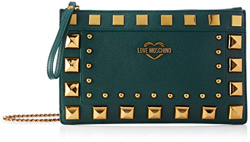 Love Moschino JC4281PP0BKO0850, Bandolera para Mujer, Verde, Normale