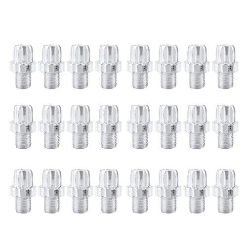 Homyl 24 tornillos de bicicleta de aluminio anodizado herramienta de bicicleta