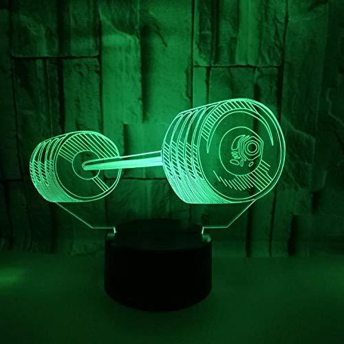 3D Illusion Lampe Led Nachtlicht Hantel 7 Farben Niedliche Cartoon-Form Touch Switch Acryl Flat & Abs Base Deko Besten Für Kinder Spielzeug Geschenk Haus Dekoration