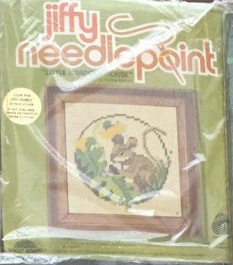 Little Meadow Mouse Wool Jiffy Needlepoint Kit # 5457