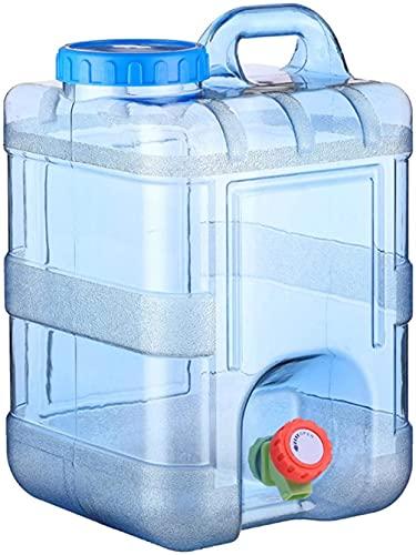 Recipiente de agua, cubo portátil con grifo, contenedor de agua de automóvil con tapa de tornillo, tanque de agua para acampar para viajes al aire libre Camping Casa de almacenamiento para beber (20L)