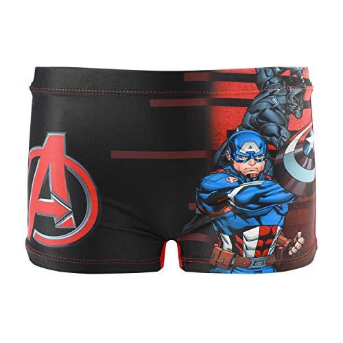 Characters Cartoons Marvel Avengers - Bambino - Costume da Bagno Pantaloncino Boxer Slip Parigamba Mare Piscina - Primavera Estate - Licenza Ufficiale [1895 Nero - 8 Anni]