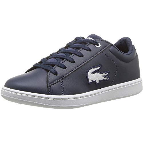 Lacoste Carnaby Evo 418 3 Blauw/Wit (Navy/White) Synthetisch Jeugd Sneakers Schoenen