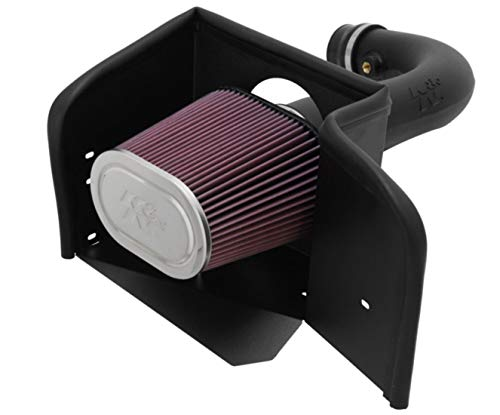 K&N Cold Air Intake Kit with Washable Air Filter: 2002-2012 Dodge Ram 1500, 4.7L V8, Black...