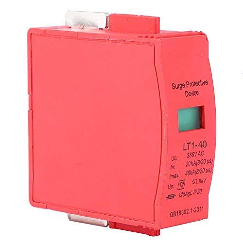 40/65/80KA AC 385 V 385 V AC överspänningsskydd Red Copper Surge Arreste överspänningsskydd för snabbt åskskydd (40 KA)