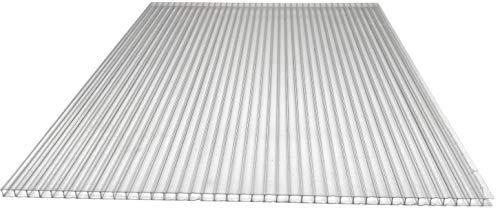 Placa para invernadero (1,5 x 0,7 m, policarbonato, cámaras huecas Lexan, Thermoclear, doble cara, protección UV, 4,5 mm de grosor)