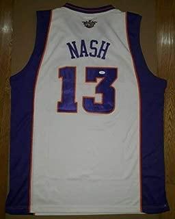 JSA Steve Nash Autographed Signed Reebok Authentic Suns Home Jersey Hof