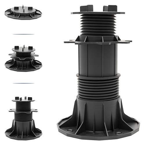 HORI® Stelzlager für Terrassen-Platten I höhenverstellbare Terrassenlager Plattenlager I vier Größen wählbar I Größe 65 – 145 mm