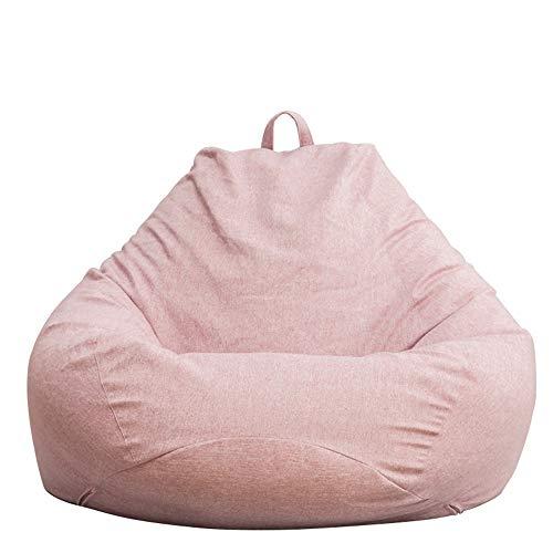 MIMI KING Sitzsack Soft Waschbar Große Größe Tragbarer Griff Faules Sofa für Kinder, Jugendliche und Erwachsene,Pink,S