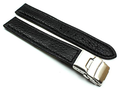 Sulla - Cinturino per orologio da polso da uomo, in pelle di vitello, con fibbia deployante