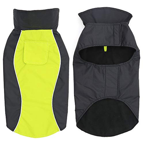 HiGuard Dog Raincoat Lightweight Waterproof Large Pet Dog Rain Jacket with Strip Reflective & Leash...