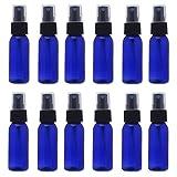 スプレーボトル 12本セット 詰替ボトル 遮光 空容器 霧吹き(30ml ブルー)