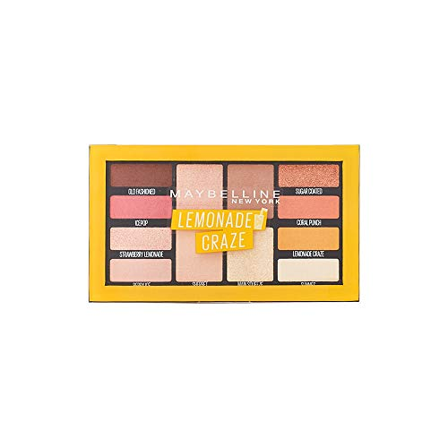 Maybelline New York Lemonade Bar Lidschatten-Palette in Nr. 01 Lemonade Craze, 12 g
