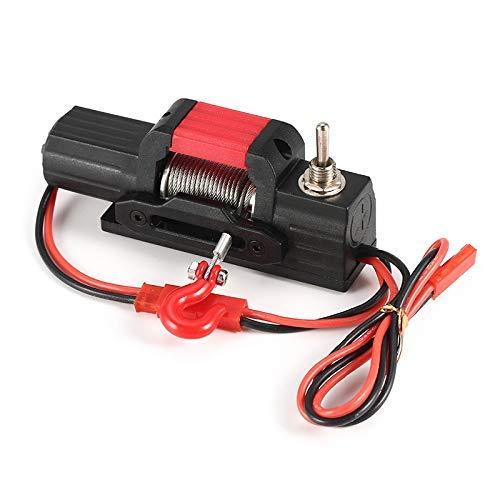 DressU Duradero Piezas de Metal Torno eléctrico del Coche de RC Accesorios de 1/10 Escala 4WD RC D90 axial SCX10 orugas Robusto