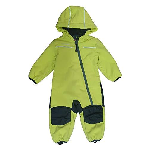 Outburst - Baby Kinder Jungen Softshell-Overall Schneeanzug gefüttert wasserdicht 10.000 mm Wassersäule atmungsaktiv Winddicht, Lime - 14411161 - Größe 104