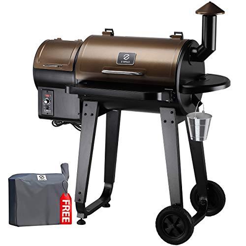 commercial Z GRILLS Ourdoor Wood Pellet Grill & Smoke House, Updated Pid 8-in-1 External Controller… pellet grills
