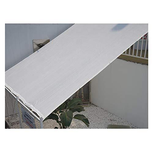 LSSB Personalizable Paño de Sombra de Jardín HDPE Anti-UV Blanco Velas de Sombra para Exterior Balcón Protección Solar del Coche Estanque Malla Sombreo (Color : White, Size : 1x3m)