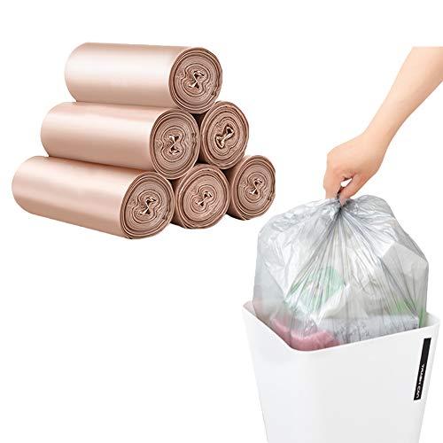 20 Chefs -5 Rouleaux Petit Bin Liners, Diables Bin BagsTrash Can Sacs Poubelle pour ordures Salle de Bain Chambre Bureau Plastique Sacs,Rose,45x50cm