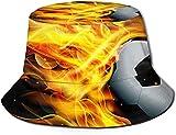 KEROTA Sombrero de pescador con estampado de llama de fútbol, sombrero de pescador, protección solar al aire libre, para pesca de viaje, unisex.