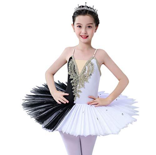 ZYLL Profesional Lago de los cisnes Ballet del tut del Ballet del Traje de la Bailarina Vestido Nias Nios del Vestido Dancewear Danza para la Muchacha,130CM