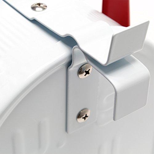 US Mailbox Amerikanisches Design Weiß Briefkasten Standbriefkasten - 5