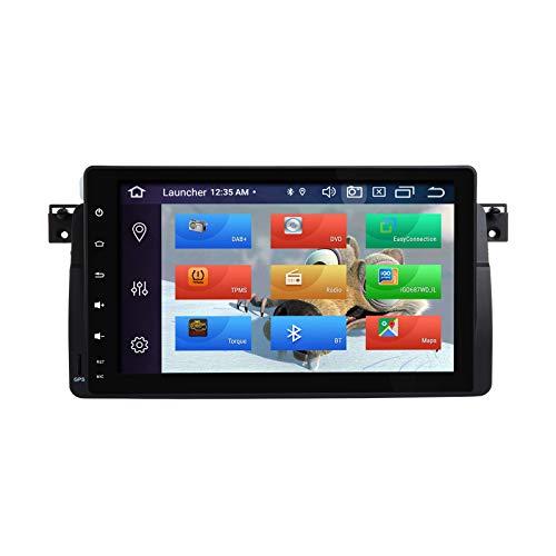 Lettore multimediale per auto ZLTOOPAI per BMW E46 Rover 75 MG ZT Android 10 Octa Core 4G RAM 64G ROM Schermo IPS da 9 pollici Double Din In Dash Autoradio Audio Stereo Navigazione GPS