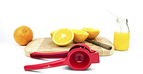 Cucisina Lemon Squeezer / Lime Juicer / Citrus Press - Commercial Grade Aluminum (Red)