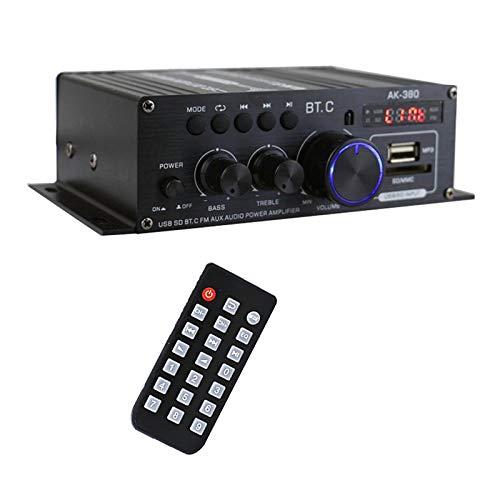 gazechimp AK380 Portátil 400W x2 Amplificador de Potência de Áudio 2.0 CH 2-Canal de Bluetooth 5.0 Amplificador de Som para o Carro em Casa garagem Sistema PA