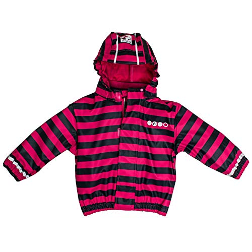 SALT AND PEPPER Salt & Pepper Baby-Mädchen Jacket RB B Girls Stripe Regenjacke, Pink (Pink 870), (Herstellergröße: 98)