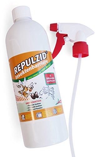Bactenet Repulzid Insekten-Barriere 1000ml, Universal Insektenschutz Insektenmittel Insektenspray Schädlingsbekämpfung