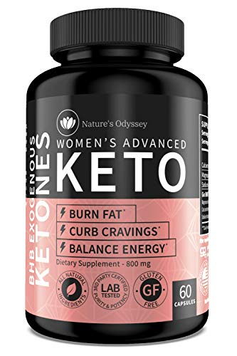 [Nature's Odyssey] Premium Keto Pills for Women - Keto Supplement to Support Energy Level, Manage Hunger and Focus - Keto BHB Pills 800mg - 60 Keto BHB Capsules in Each Bottle