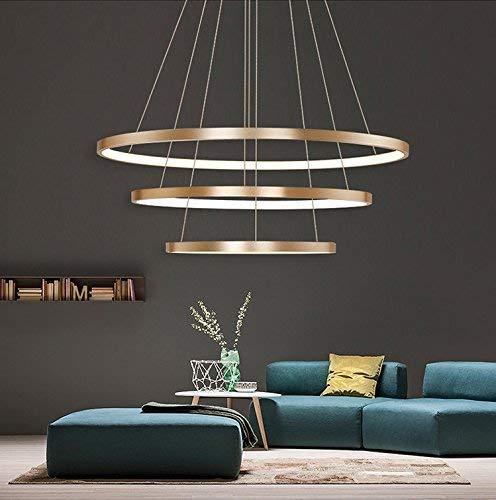 YLJYJ Exklusiv Entwurf Modern Kronleuchter LED Deckenleuchte DREI Stufe Leuchter Aussehen Einstellbar LED Lichtquelle Integriert