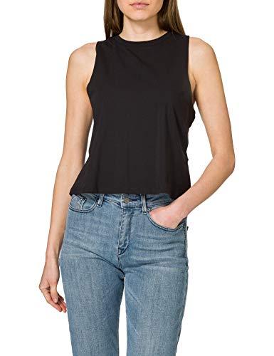 Noisy May Nmhailey S/L Crop Tank Top Bg Noos Camiseta para Mujer