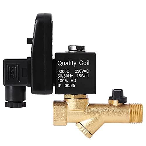 Válvula de drenaje DN15, controlador de temporizador de latón de 4 puntos, tanque de almacenamiento automático de gas, válvula de drenaje del compresor de aire del enfriador electrónico
