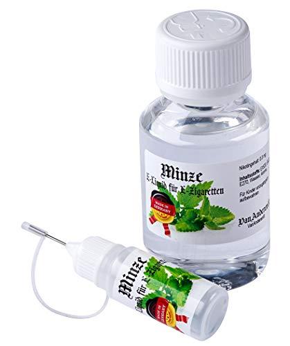 100ml VanAnderen® - PREMIUM E-Liquid + Nadelcapflasche - mit Nikotin 0,0mg - Minze