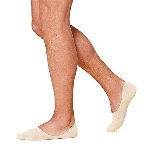 12 Paia Salvapiedi Da Uomo, Pedalini In Cotone, Fantasmini Scollati Sneaker Calze Invisibili in Cotone, Calze Corti Traspirante Sportive con taglio basso, (12 Carne, 42-45)